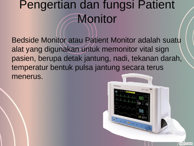 patient monitor mindray ppt