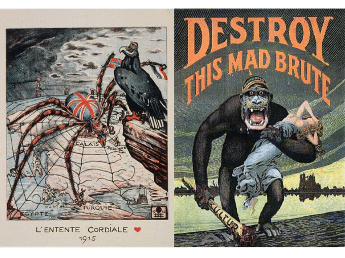 WWI Propaganda Allied and Central Powers Persuasive Techniques